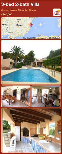 3-bed 2-bath Villa in Javea, Javea   Alicante, Spain ►€340,000 #PropertyForSaleInSpain