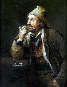 Munkácsy Mihály (1844-1900) - Pipázó férfi