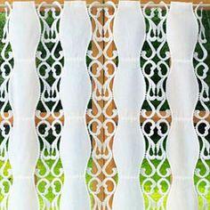 Macrame Lace Cafe Curtains Lace Valances, Lace Curtains, Lacemaking, Kitchen Curtains, Macrame, Fabric, Pattern, Tejido, Tela