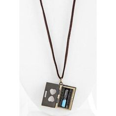 Hourglass Book Necklace ($11) ❤ liked on Polyvore featuring jewelry, necklaces, special occasion jewelry, charm pendant necklace, cocktail jewelry, cable necklace and pendants & necklaces