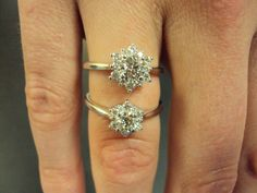 Hearts On Fire's Delight Lady Di ring: .3 and .5 center stone comparison