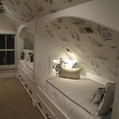 7 Surprising Useful Tips: Attic Office Layout attic remodel exposed beams.Attic Home Pictures attic conversion staircase. Loft Room, Bedroom Loft, Bedroom Decor, Loft Beds, Bedroom Modern, Bunk Bed, Bunk Rooms, Attic Bedrooms, Attic Bedroom Kids
