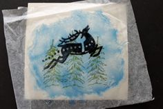 Splitcoaststampers - Acetate & Tissue Technique Tutorial by Beate Johns