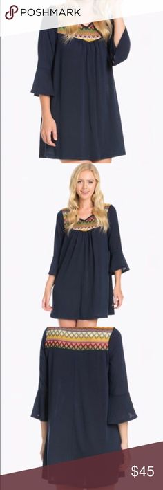 Dress Super cute boho dress! 97% cotton 3% spandex! You can also wear as a top! Dresses