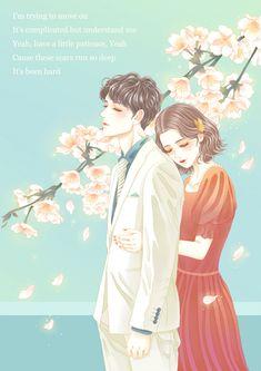 Love Cartoon Couple, Cute Couple Art, Anime Love Couple, Anime Couples Manga, Cute Anime Couples, Watercolor Girl, Couple Illustration, Beautiful Nature Wallpaper, Cute Profile Pictures