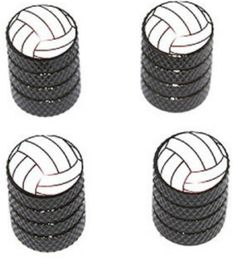 "Amazon.com : (4 Count) Cool and Custom ""Diamond Etching Volleyball Top with Easy Grip Texture"" Tire Wheel Rim Air Valve Stem Dust Cap Seal Made of Genuine Anodized Aluminum Metal {Sporty Chevy Black and White Colors - Hard Metal Internal Threads for Easy Application - Rust Proof - Fits For Most Cars, Trucks, SUV, RV, ATV, UTV, Motorcycle, Bicycles} : Sports & Outdoors"