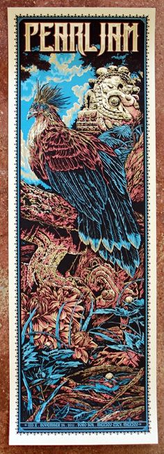 #PJPhoto Pearl Jam Poster 2011 Mexico City Ken Taylor