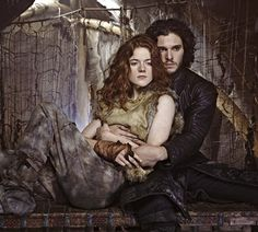 Game of Thrones season 3! This season Ygritte is drawn closer to Jon Snow, but runs the risk of her tribe discovering she's romancing a traitor. Eee!