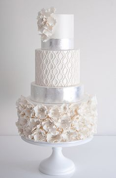 Break Tradition with These 43 Trendy Wedding Cakes. To see more: http://www.modwedding.com/2014/01/22/43-wedding-cakes/ #wedding #weddings #cakes                                                                                                                                                                                 More