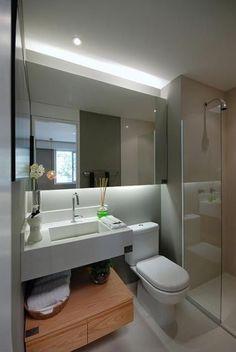 banheiro pequeno e contemporâneo
