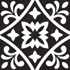 Black White Tiles printable wall art set of 4 Geometric Geometric Poster, Geometric Wall Art, Geometric Prints, Black And White Tiles, Black White, Motif Baroque, Art Original, Tile Art, Wall Art Sets