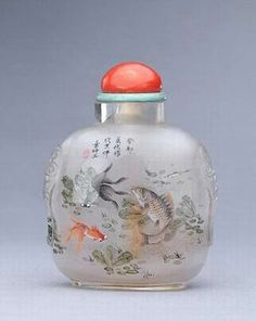Snuff-bottle with Inside Painting from China