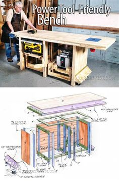Tool Bench Plans - Workshop Solutions Plans, Tips and Tricks | WoodArchivist.com