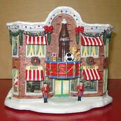 coca cola christmas | Coca-Cola-Hawthorne-Village-Christmas-Holiday-Toy-Store-Lighted-w ...