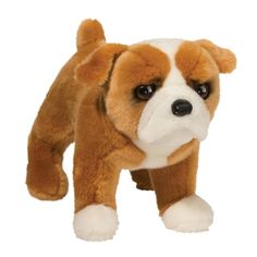Hutch the Stuffed Bulldog Puppy Dog by Douglas Toy Bulldog, Bulldog Breeds, Bulldog Puppies, Pitbull Toys, Body Craft, Dog Calendar, Cute Plush, Animal Pillows