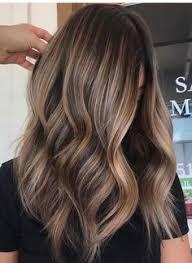 Znalezione obrazy dla zapytania light brown balayage on dark hair