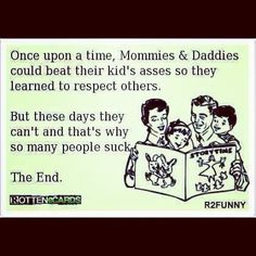 Thus why this new generation lacks respect and morals.