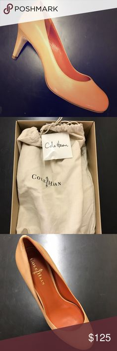 Brand new Cole Haan Violet Nike Air Pump Beige Brand new Cole Haan Violet Nike Air Pump 6.0 in Beige. New in box and original bags. Extra set of heels included. Never worn. Style #D37498 Cole Haan Shoes Heels