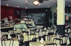 Our dining room in Tyler, TX, in the 1980s. The Tyler deli was the first to open outside of the Beaumont, TX area.
