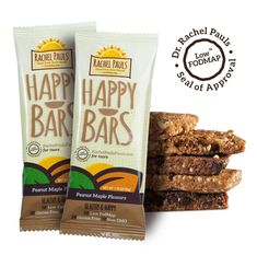 A chewy, tasty peanut core with notes of pure maple syrup. A low-FODMAP energy bar that is a healthy source of fiber, antioxidants and protein. Fodmap Diet, Low Fodmap, Chicken Base, Pure Maple Syrup, Fodmap Recipes, Energy Bars, Good Food, Tasty, Snacks