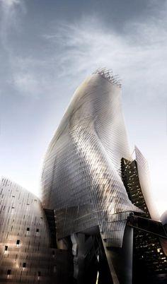 Phare Tower - Render | Morphopedia | Morphosis Architects