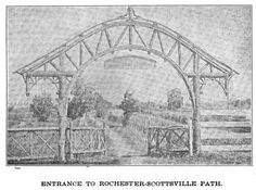 Entrance to Rochester-Scottsville Path. from _Good Roads_ Vol 31 [Google Books]