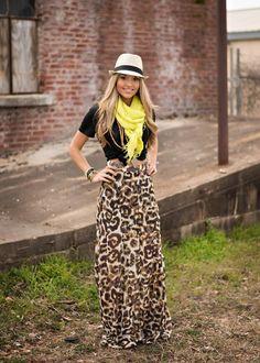 Spring Style at Steamroller Blues  #maxiskirt #leopard #fedora