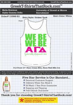 Cool Alpha Gamma Delta tank! http://www.greekt-shirtsthatrock.com/