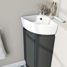 Corner Basins With Vanity Unit small corner sink cheap corner vanity units vanities small toilet and sink WMOSEPH - Kitchen Ideas Corner Sink Bathroom Small, Corner Vanity Sink, Corner Toilet, Corner Basin, Small Toilet, Small Corner, Corner Sink Unit, Washbasin Design, Downstairs Toilet