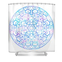 Shower Curtain featuring the digital art Tie Dye Mandala by Sharon Norman