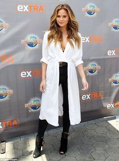 It's all about confidence! Chrissy Teigen, pictured in Hollywood on Wednesday, recently di...