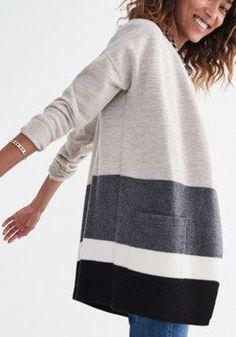 Meridian Sweater-Jacket in Stripe