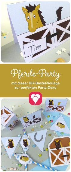 Pferde Party DIY Im Pferde Geburtstagspaket Findest Du Die Wichtigsten  Produkte Für Deinen Kindergeburtstag Rund