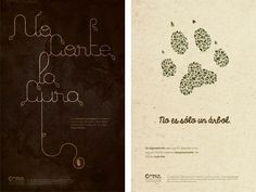 The Graphic Imperative: Friends of the Earth by Sally Carmichael, via Behance