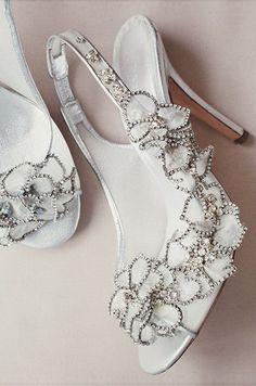 Freya Rose Bridal Shoes  Silver & White