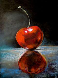 """""""Cereja"""" - Desenho a pastel de óleo inspirado em trabalho de Michael Naples (2) (Malay- 2/6/15)"""