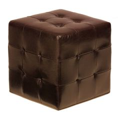 Cortesi Home Furnishings Braque Cube Ottoman in Vinyl - http://www.furniturendecor.com/cortesi-home-furnishings-braque-cube-ottoman-in-vinyl-espresso/- Related categories: Furniture, Home and Kitchen, Living Room Furniture, Ottomans