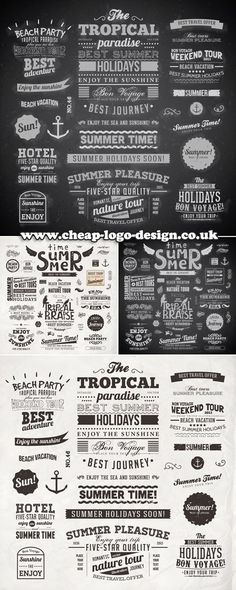 retro summer logo ideas www.cheap-logo-design.co.uk #summerlogos #retrologo #logodesign