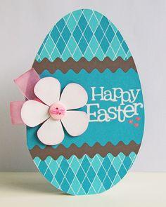 handmade Easter Egg Card - Sweet Shoppe Gallery easter-egg-shaped-card ...