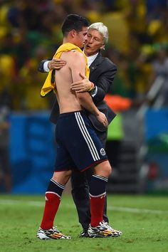 """Win or lose """"Los Cafeteros"""" were one of the best parts of the World Cup. James Rodriguez, Soccer Guys, Good Soccer Players, Football Soccer, Colombia Soccer Team, Fifa, Lionel Messi, Making The Team, I Want To Cry"""