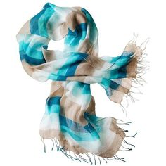 Bold Stripe Scarf ($29) ❤ liked on Polyvore