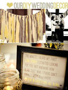 Wedding idea so sweet!