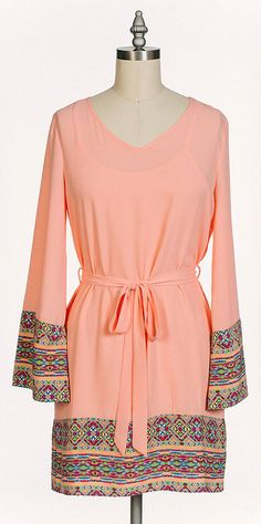 cute dress - love the fact that it's got long sleeves.