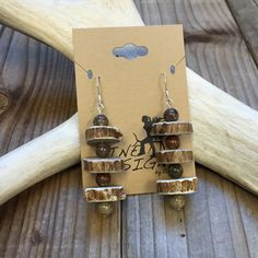 Deer Antler Jewelry Real Antler Earrings Antler Earrings Antler Jewelry Tine Designs by Mindi Bone Jewelry Horn Jewelry