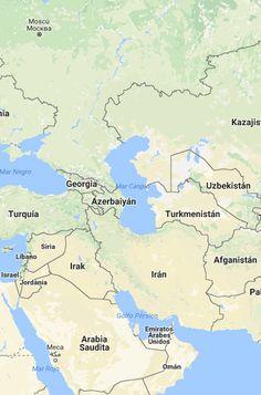 El Cáucaso, entre Medio Oriente y Asia, en las fronteras del Mar Mediterráneo Oriental, el Mar Negro y el Mar Caspio- En la complejidad radica su debilidad pero también su fortaleza. Google Maps