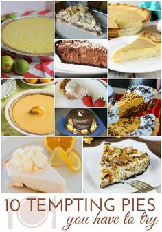 10 Tempting Pie Reci