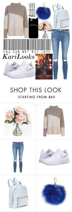 """""""You can not buy love"""" by karilooks ❤ liked on Polyvore featuring Home Decorators Collection, French Connection, Frame Denim, NIKE, Fendi, Furla, Forever 21 and Free People"""