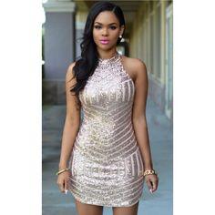 Sexy Sparkling Sequin Tank Dress - Stella La Moda