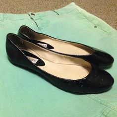 Steve Madden Ballet Flats black patent leather Loved, but can definitely  use more love!