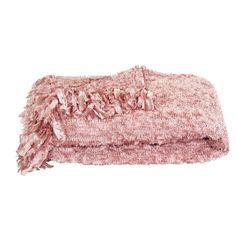 Plaid Christel - oud roze | Leen Bakker